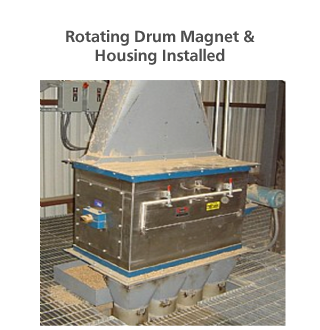 Rotating Drum Magnet & Housing Installed
